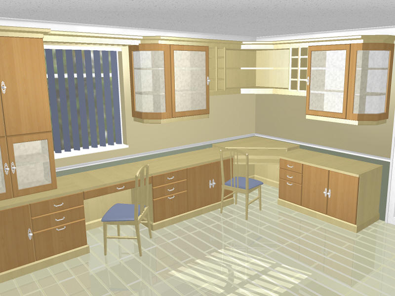 Cad gallery of image of home office designs for Home office design layout