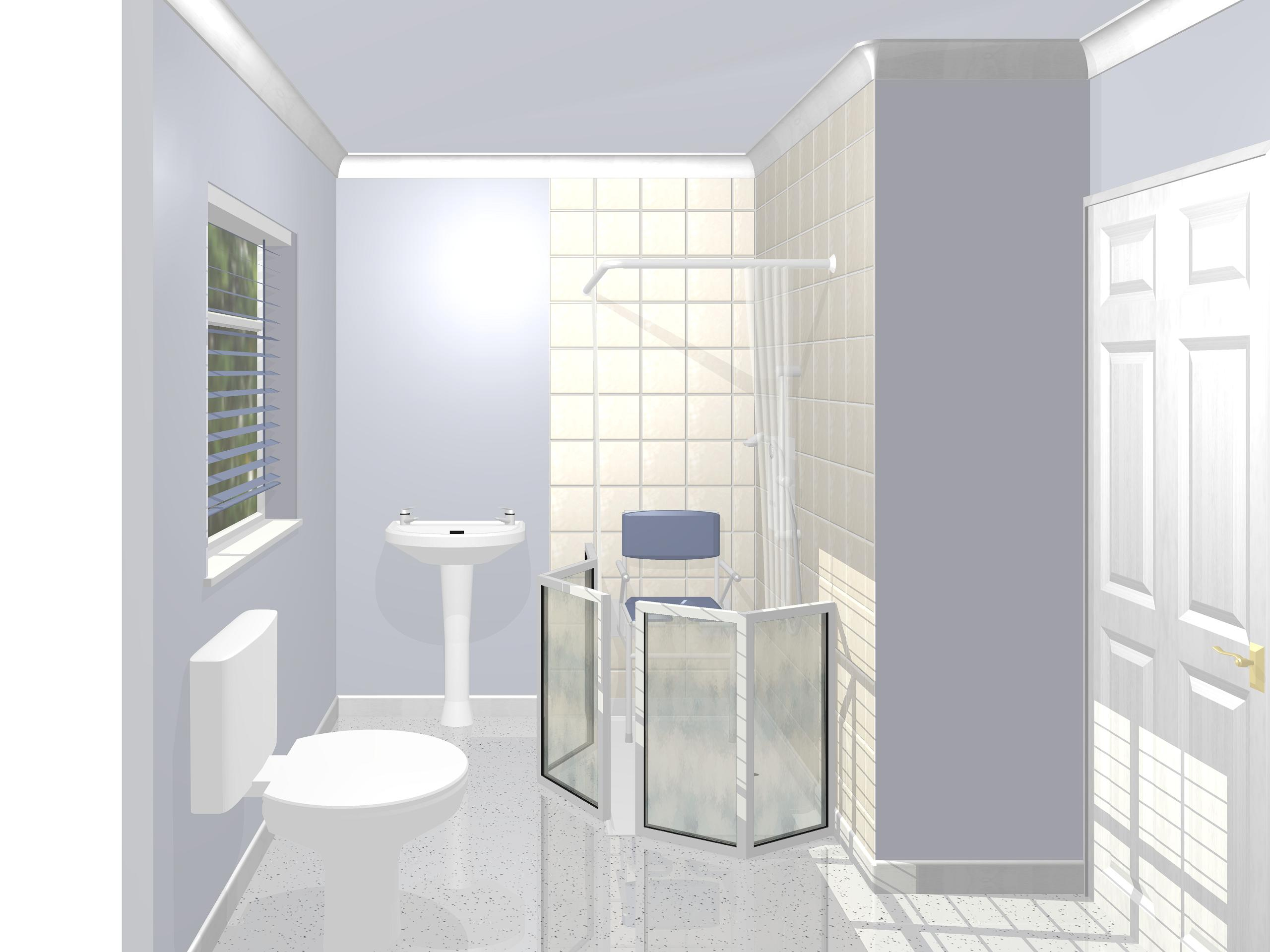 Superview cad gallery of 3d bathroom pictures for Bathroom examples